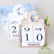 Calendar card Decoration creative office home decorations solid wood crafts