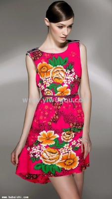 Dress, people cotton dress, burst models selling Europe and the United States in Southeast Asia.