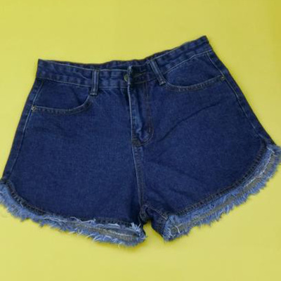 Factory direct high waist denim shorts hot pants nostalgic design
