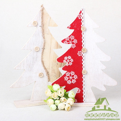 Wooden Christmas tree Decoration Desktop Decoration Festival Gifts Creative Wooden Crafts Ornaments