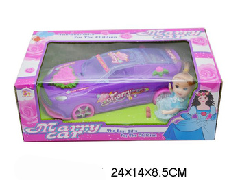 Children 's educational toys wholesale cable with light Barbie sports car wedding model painting