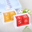 Cute Calendar Decoration Creative Wooden Office Interior Table Decoration