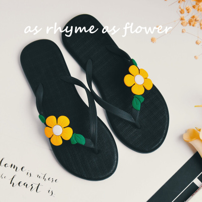 d1195e970 Summer new fashion ladies flowers cool slippers Korean version of the beach  non - slip word