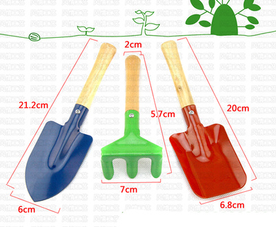 Factory direct wholesale 6011 shovels set outdoor toys children gardening three sets of educational toys