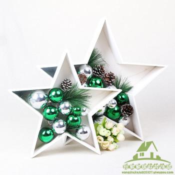 Christmas Decoration Star Ball Color Plating Ball Festival Decorative Ornament Decoration