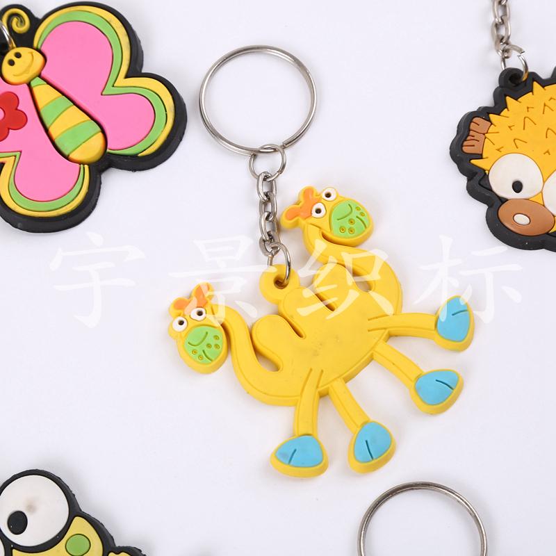 硅胶卡通可爱动物钥匙扣挂腰汽车钥匙圈环小挂件