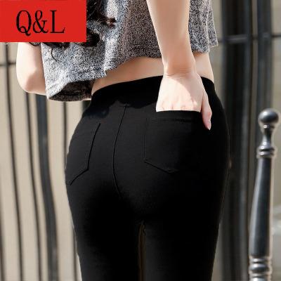 Autumn and winter Korean high waist leggings are thin plus velvet thick pencil pants
