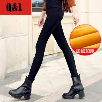 Autumn and winter Korean high waist leggings are thin plus velvet thick pencil pants