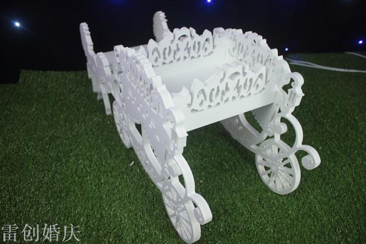 新款雕花镂空马车雪弗板婚礼舞台背景装饰摆件婚庆
