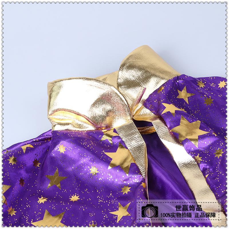 新款儿童万圣节披风圣诞节魔法师五星披风斗篷