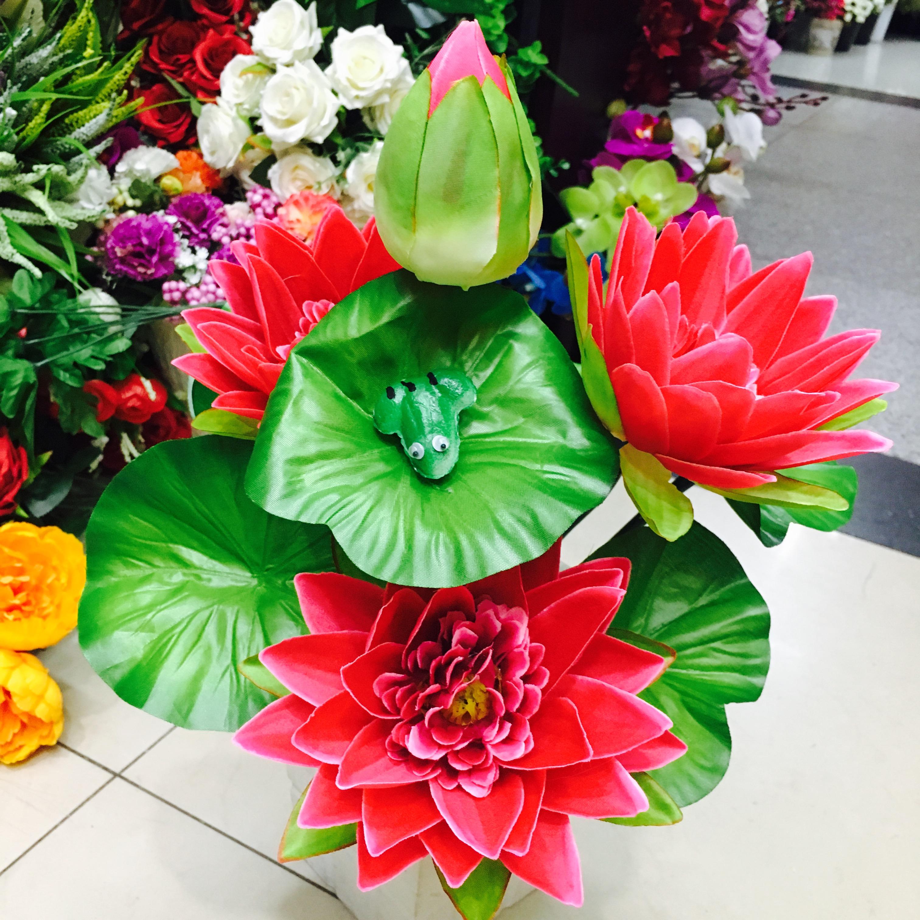 Supply Imitation Lotus Flower Lilies Flowers For Buddha Plastic Fake