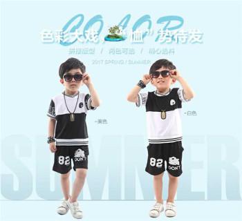 Summer two - piece leisure sports suit children 's wear sportswear women' s short - sleeved T - shirt