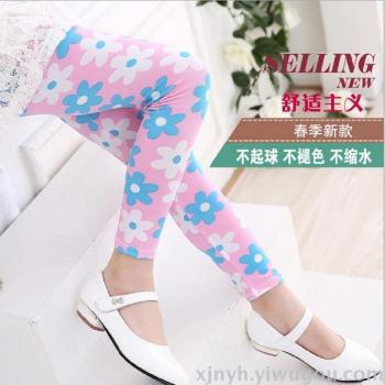 Children's clothing women's spring autumn Korean children's pants pants girls thin section of milk legs Leggings ts