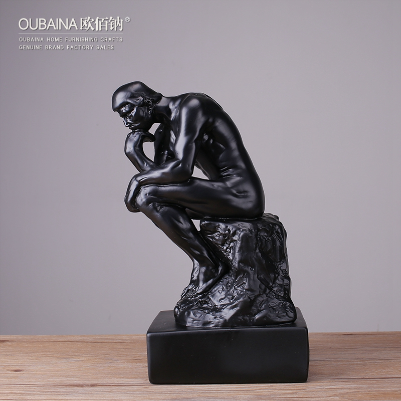 现代简约 思考者人物雕塑工艺品摆件