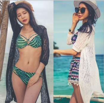 Wholesale knitted sunscreen cardigan, bikini outside blouse