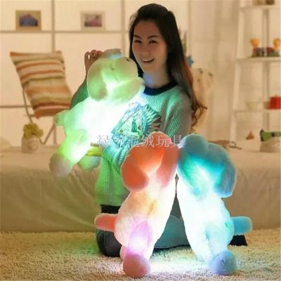 Foreign trade bursts of colorful lights lazy dog ​​induction switch plush toys can add music