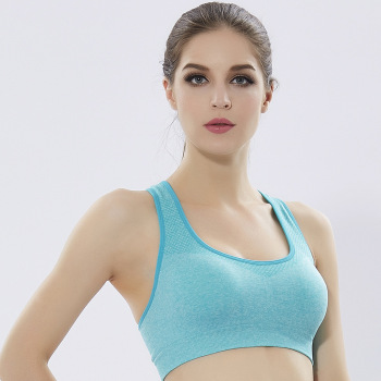 Quick - drying underwear ladies without steel ring sports bra yoga fitness running vest