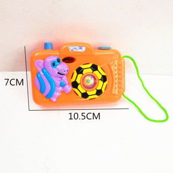 Children's educational toys pocket children's plastic cartoon camera model toys (film animal world pattern)