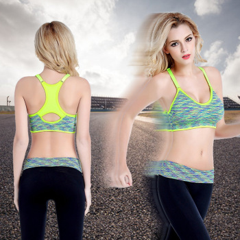 No steel ring no trace fitness sports lingerie dry section training yoga running sports bra