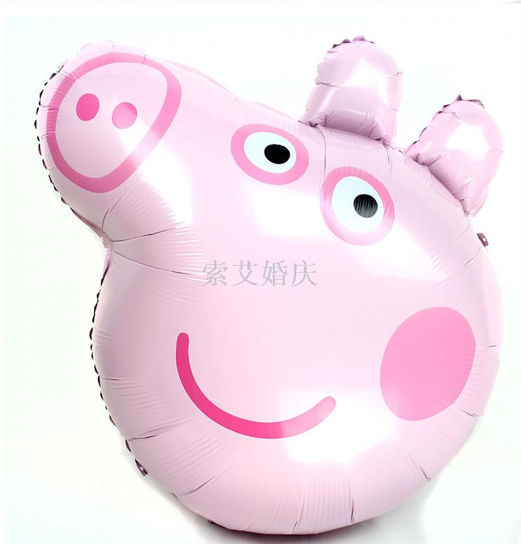 小猪佩奇 大号佩奇头铝膜球气球