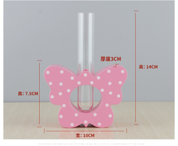 TT-01 butterfly tube vase solid wood ornaments creative home crafts soft clothing decoration