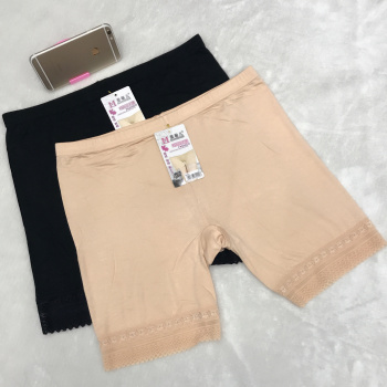 Plus fat to increase the anti-light safety pants modal pants female summer leggings