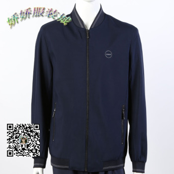 Middle - aged men 's, father's, with round neck jacket business casual wear screw mouth public version