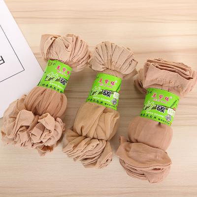 Summer United States and purple  silk stockings anti-skid cotton glass silk crystal socks manufacturers wholesale