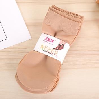 Hot summer thin section of short steel stockings do not hook silk socks socks Ms. shorts stockings factory sales