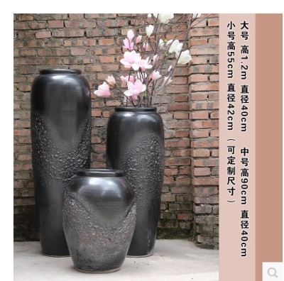 Large vase villa villa villa big clay pot garden green landscape soft decorative floor floral apparatus
