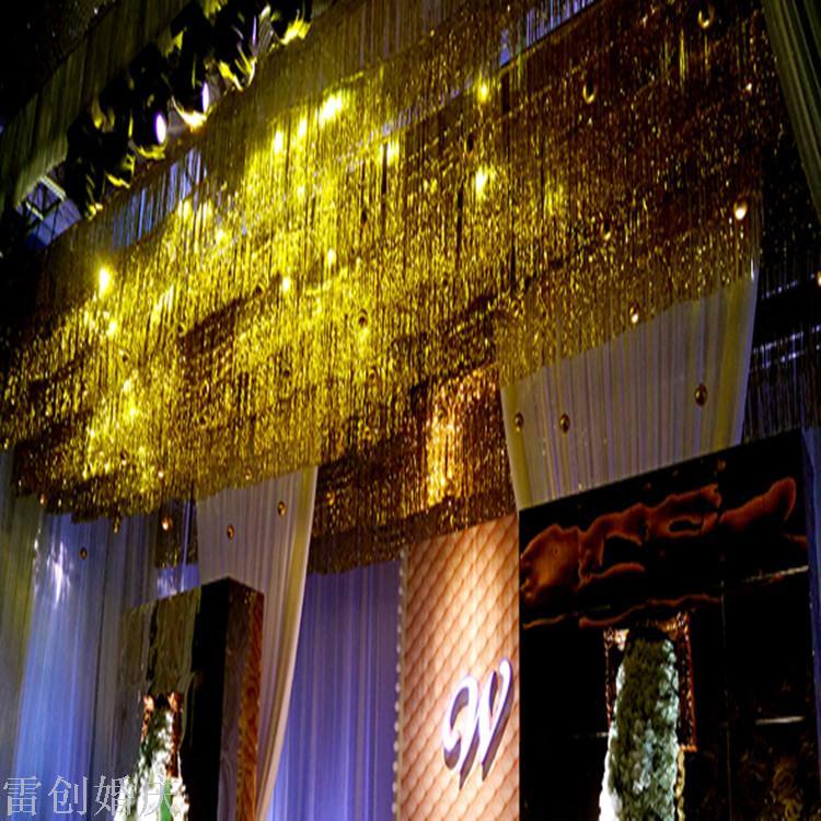 生日圣诞派对布置场景 婚庆道具雨丝帘背景舞台装饰婚