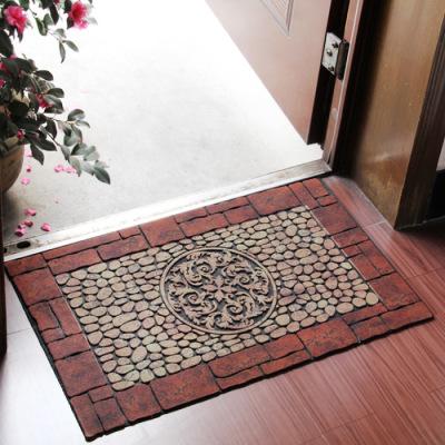 45cm*75cm flocking rubber cushion door mat