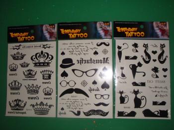Small fresh tattoo stickers men and women children cartoon lasting personality brains tattoo