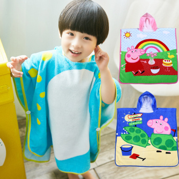 Big children hold blanket cotton children's bath towels beach towel 70*140 six animal shapes