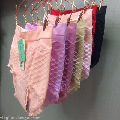 Luo Yin Ni underwear wholesale seamless large size ultra-thin milk mask underwear lace sexy body briefs pants