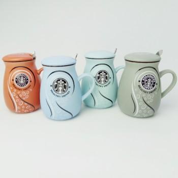 Junong Ceramics Creative Creative Starbucks Glazed Pouch Coffee Cup Couple Student Birthday Gift Tea Cup