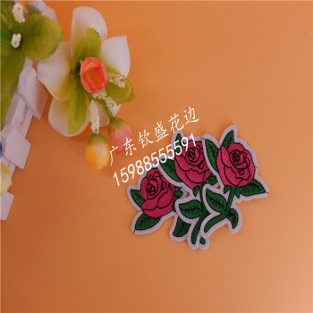 Factory direct water soluble lace can be customized color roses clothing accessories a plastic back