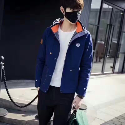 Spring and summer men's hooded jacket long sleeve jacket men's cardigan sportswear spot