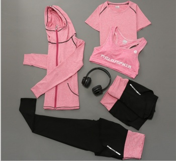Korean version of the new yoga clothes five sets of sports fitness moisture perspiration leisure sportswear