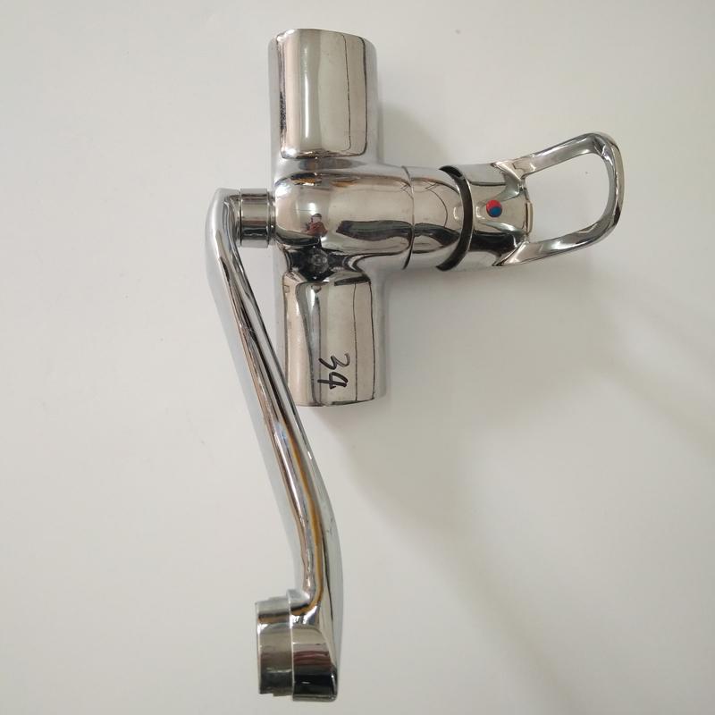 浴缸龙头加长三联淋浴房单把单孔冷热水龙头