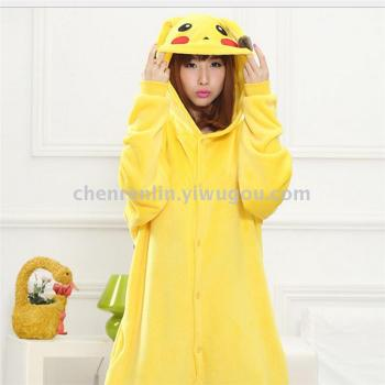 The new Pikachu cartoon zoomers are matching pajamas for cute men and women