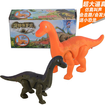 Electric large dinosaurs walking with light tones benefit mentally electric toys Brachiosaurus model stalls selling