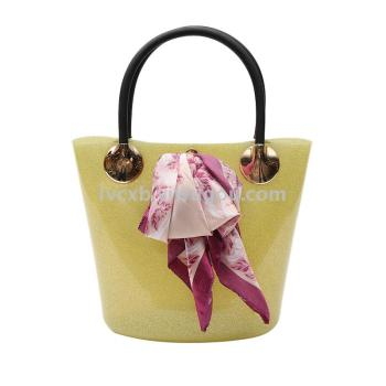 [factory direct] Korean fashion waterproof silicone jelly candy color bucket bag bag wholesale