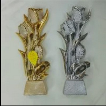 Plated ceramic decoration crafts boutique tulip flower