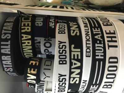 Factory direct sales CK underwear warm pants words elastic belt jacquard high elastic color elastic band