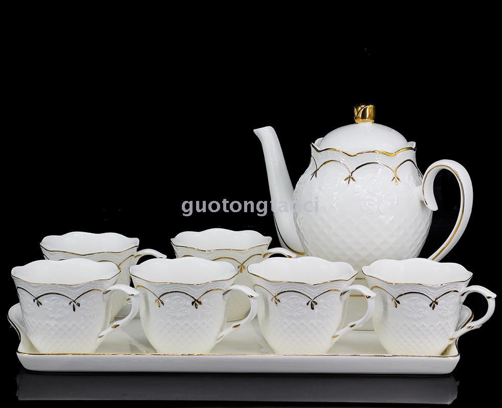 景德镇2017新款欧式描金水具 茶具咖啡具 厂家直销
