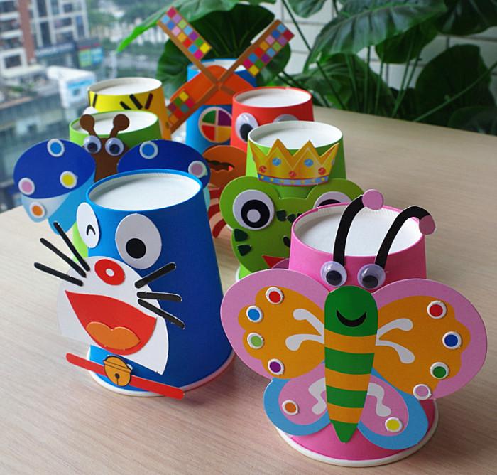 纸杯创意手工制作图解_用纸杯做手工小台灯图片