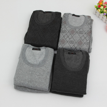 Autumn and winter foreign trade men loose warm underwear suit to increase the multi-color mixed pants suit