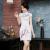 Factory direct sales days good clothing new retro jacquard cotton half-sleeve plum show short paragraph cheongsam