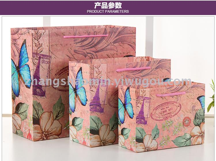 Supply Korean Version Gift Bag Handbag Paper Shopping Custom Wedding Birthday Return Festival